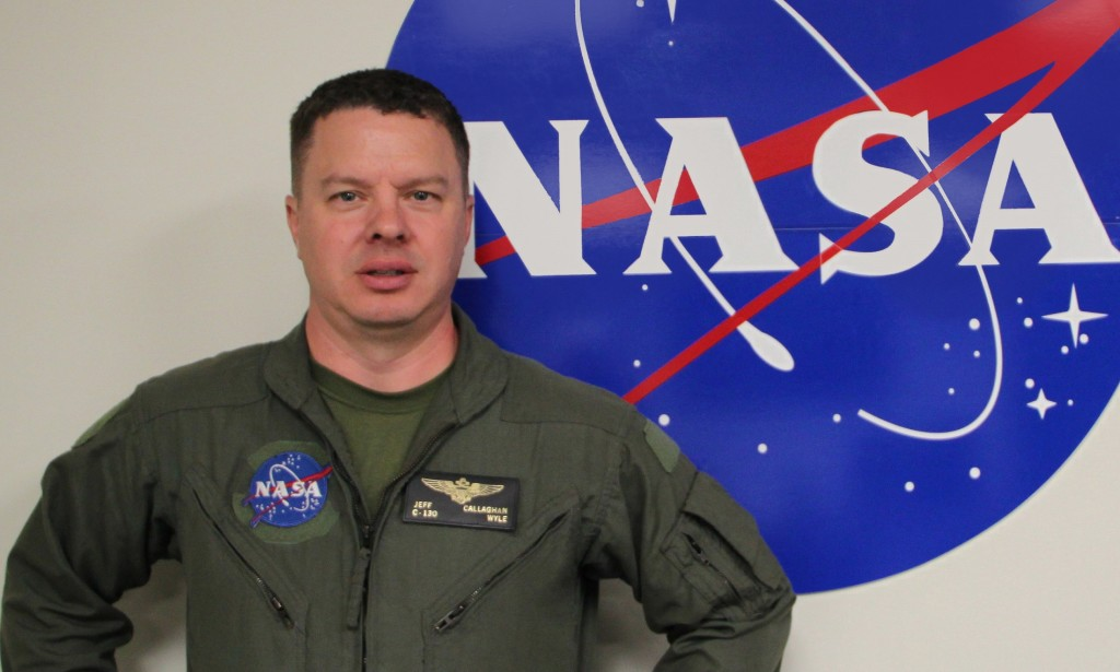 Pilot Jeff Callaghan at NASA's Wallops Flight Facility. Credit: NASA/Sam McDonald