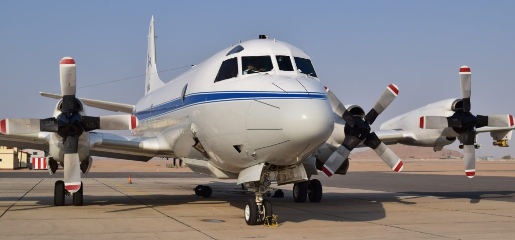 NASA's P-3 research aircraft, ready to fly from Walvis Bay, Namibia. Credit: NASA/Jane Peterson