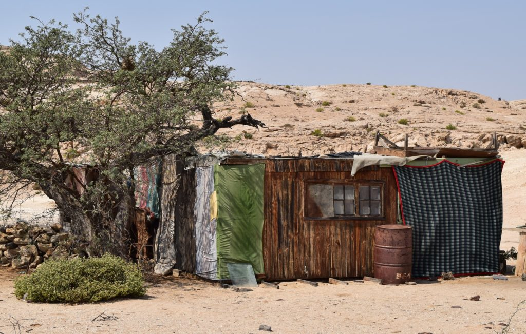 House in the desert near the Kuiseb River. Credit: NASA/Jane Peterson