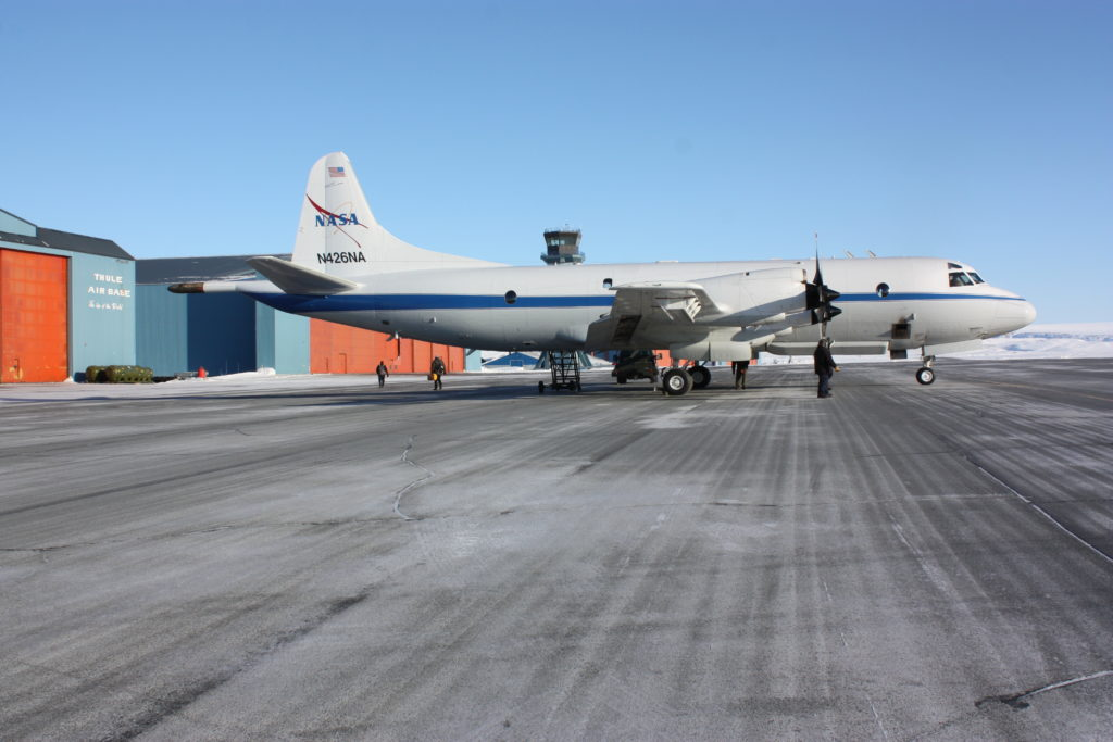Operation IceBridge's P-3 at Thule Air Base. Credit: NASA/Maria-Jose Viñas