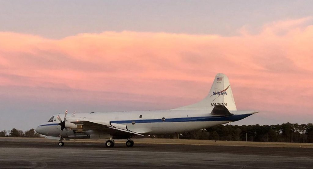NASA's P-3 research aircraft will be flying through clouds during IMPACTS to study snow. Credit: Joe Finlan