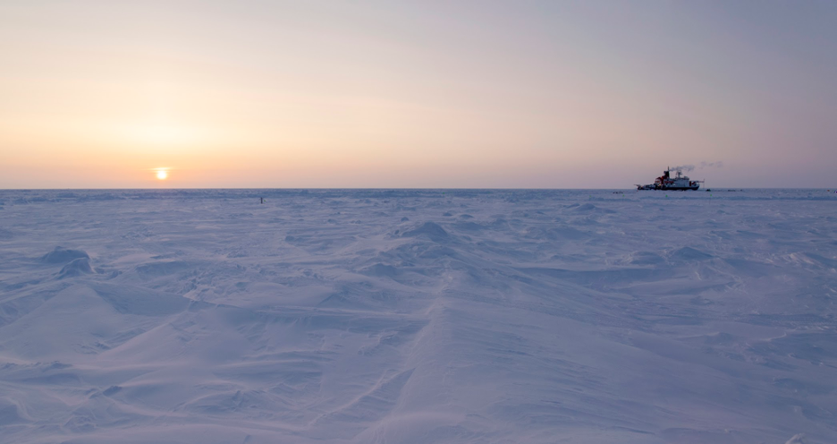 The Sun at midnight on a day when it never dipped below the horizon. The North Pole, referred to as the land of the midnight sun, experiences about five months of total darkness and about six months of never-ending sunlight. Credit: University of Maryland / Steven Fons