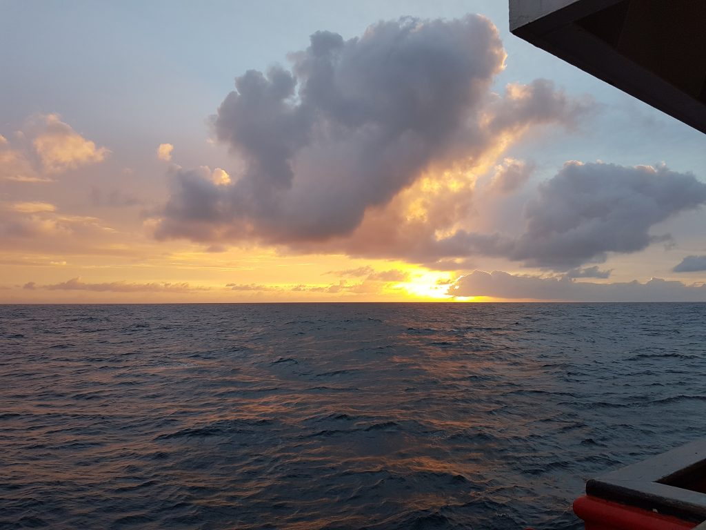 Sunrise on the Sarmiento de Gamboa.Credit: Laetitia Drago