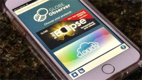 GLOBE Observer Eclipse app displayed on a smart phone