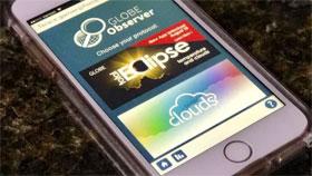 GLOBE Observer Eclipse app displayed on a smart phone