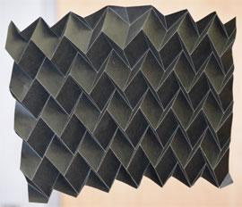 Origami inspired radiator