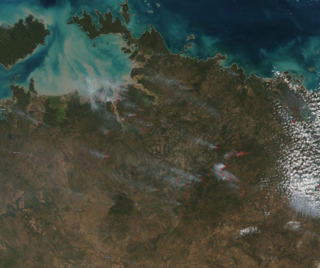 Fires in NT Australia