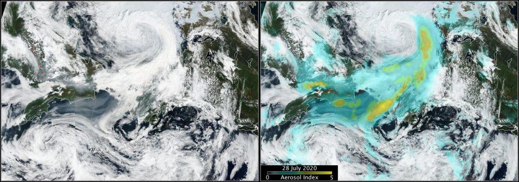 Siberian smoke over Alaska