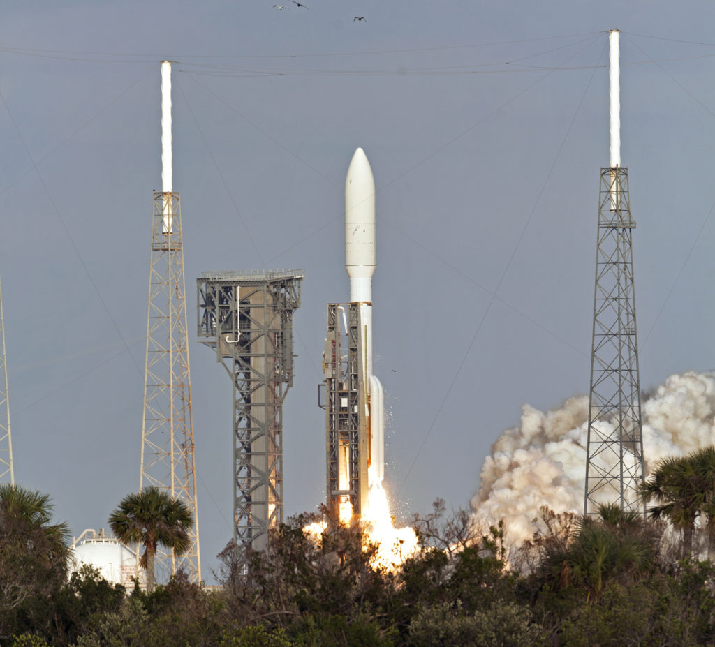 NOAA's GOES-S satellite launches on a United Launch Alliance Atlas V rocket from Space Launch Complex 41 at Cape Canaveral Air Force Station in Florida.