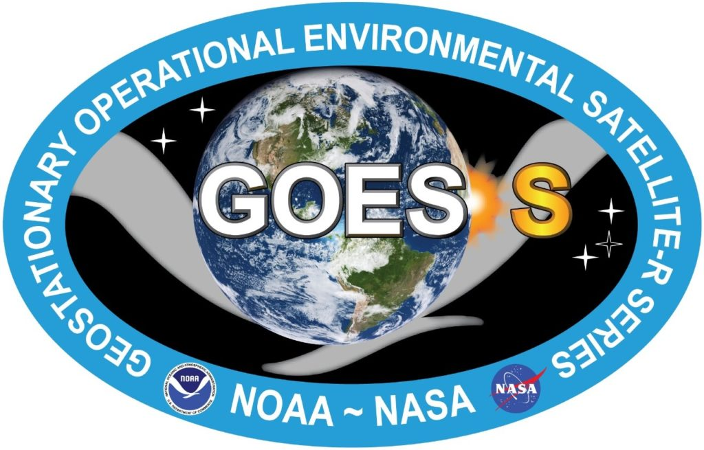 The GOES-S mission logo.