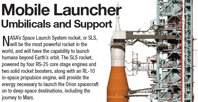 Cropped screen capture of fact sheet including title, first paragraph and graphic of launcher and rocket