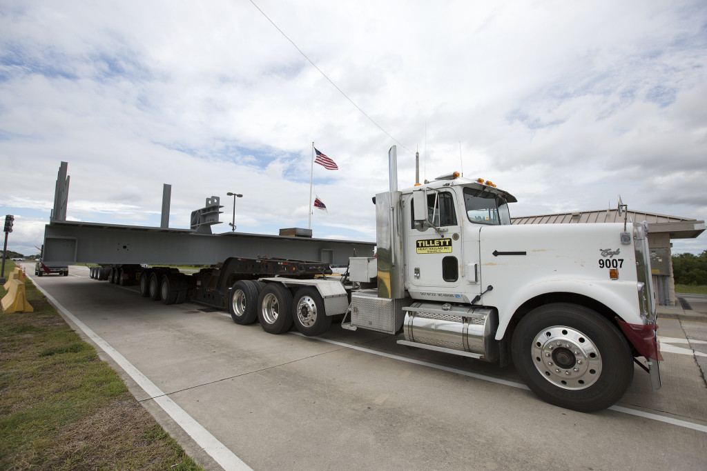 Platform D South arrives at NASA's Kennedy Space Center in Florida.