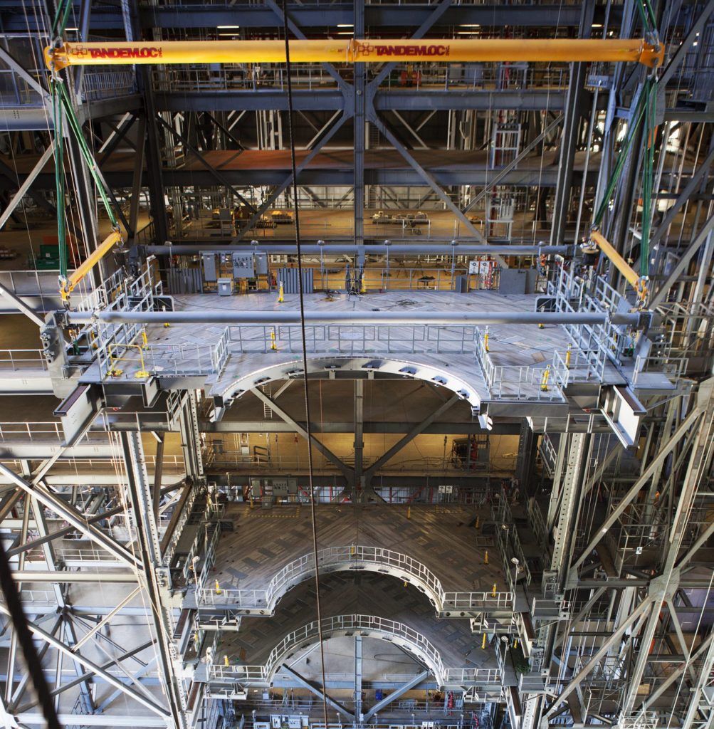 Platform C is installed in High Bay 3 in the Vehicle Assembly Building at Kennedy Space Center in Florida.