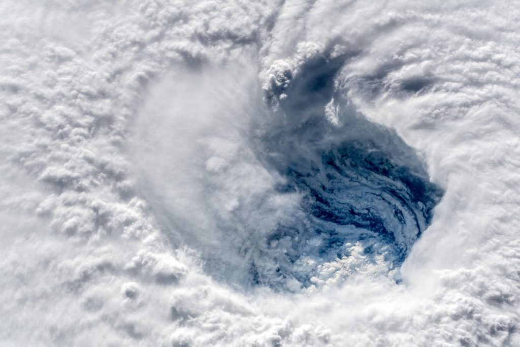ISS image of Florence's eye