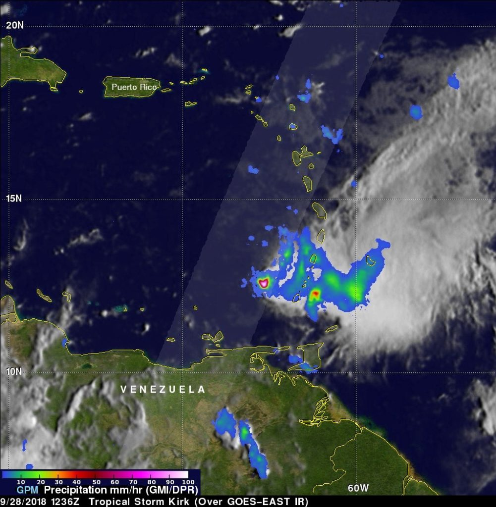 GPM image of Kirk