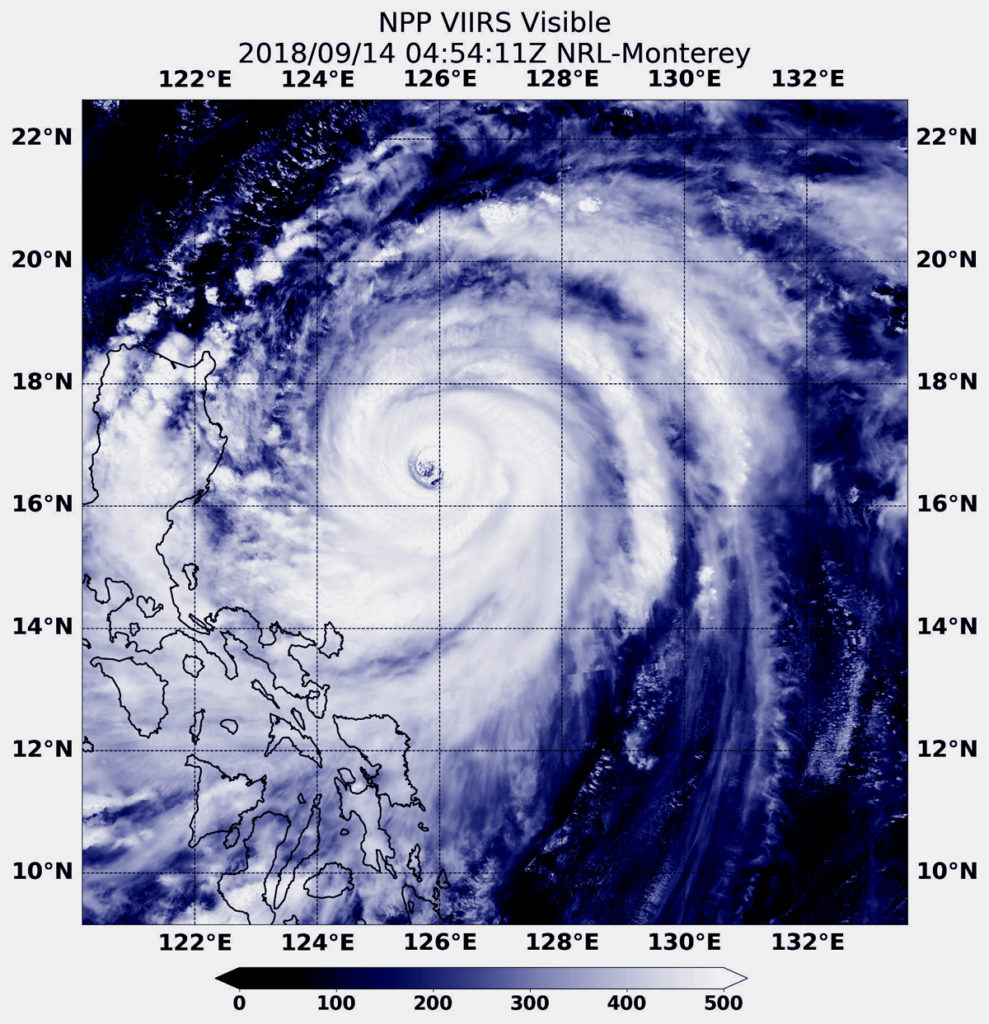 Suomi NPP image of Mangkhut
