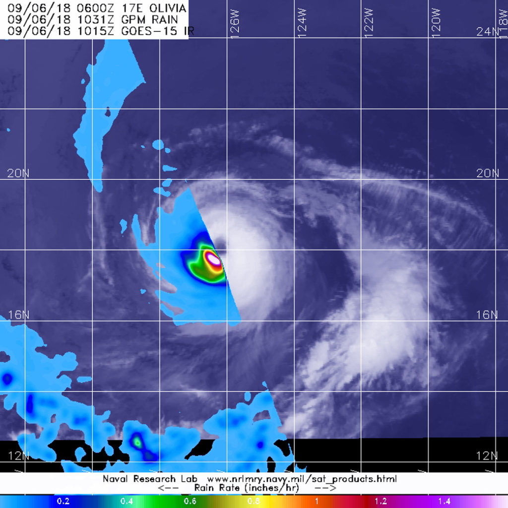 GPM image of Olivia