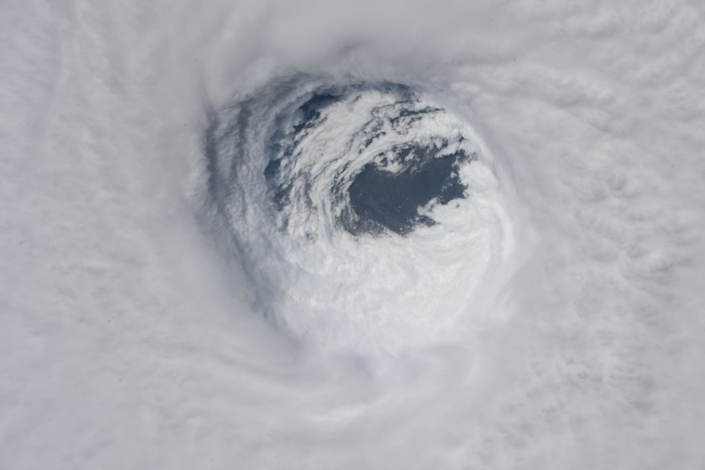 photo of Hurricane Michael's eye from the ISS