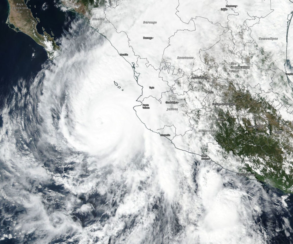Suomi NPP image of Willa