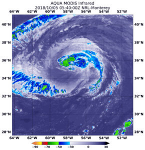 Satellite data on Leslie