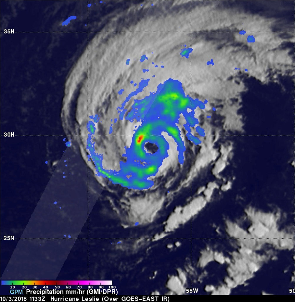GPM image of Leslie