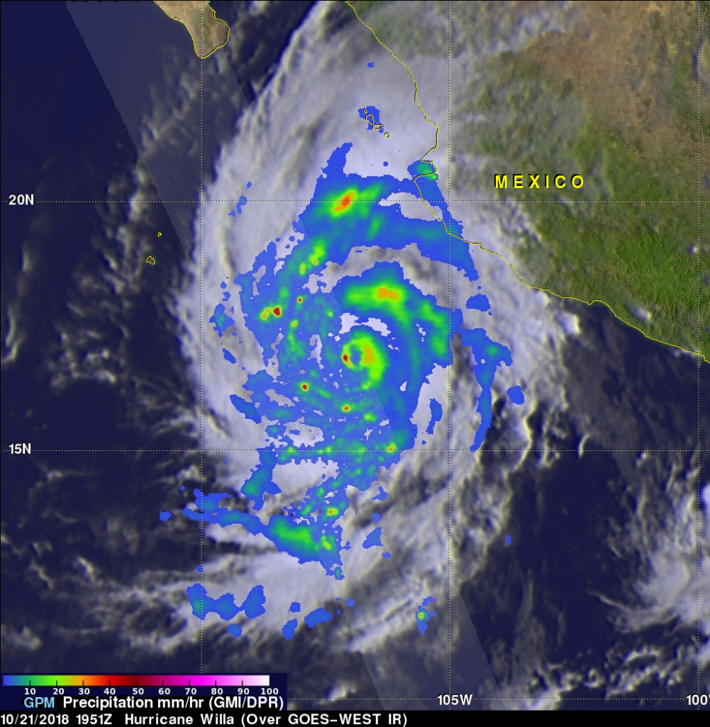 GPM image of Willa
