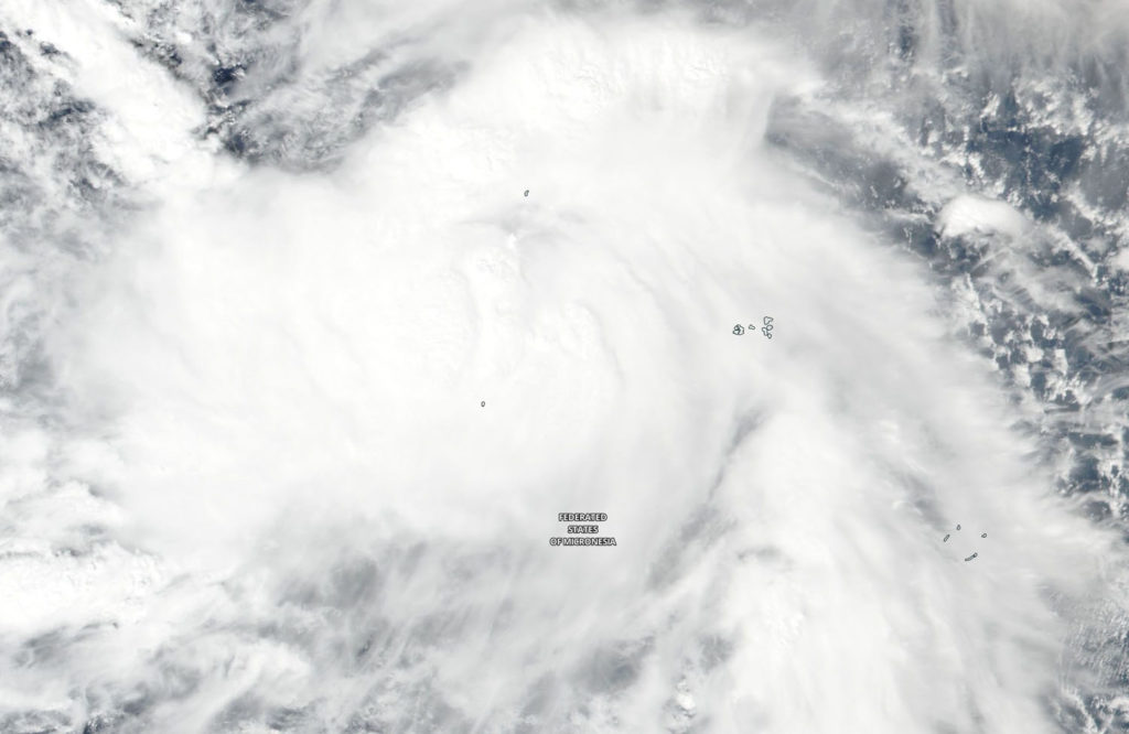Suomi NPP image of Man-yi