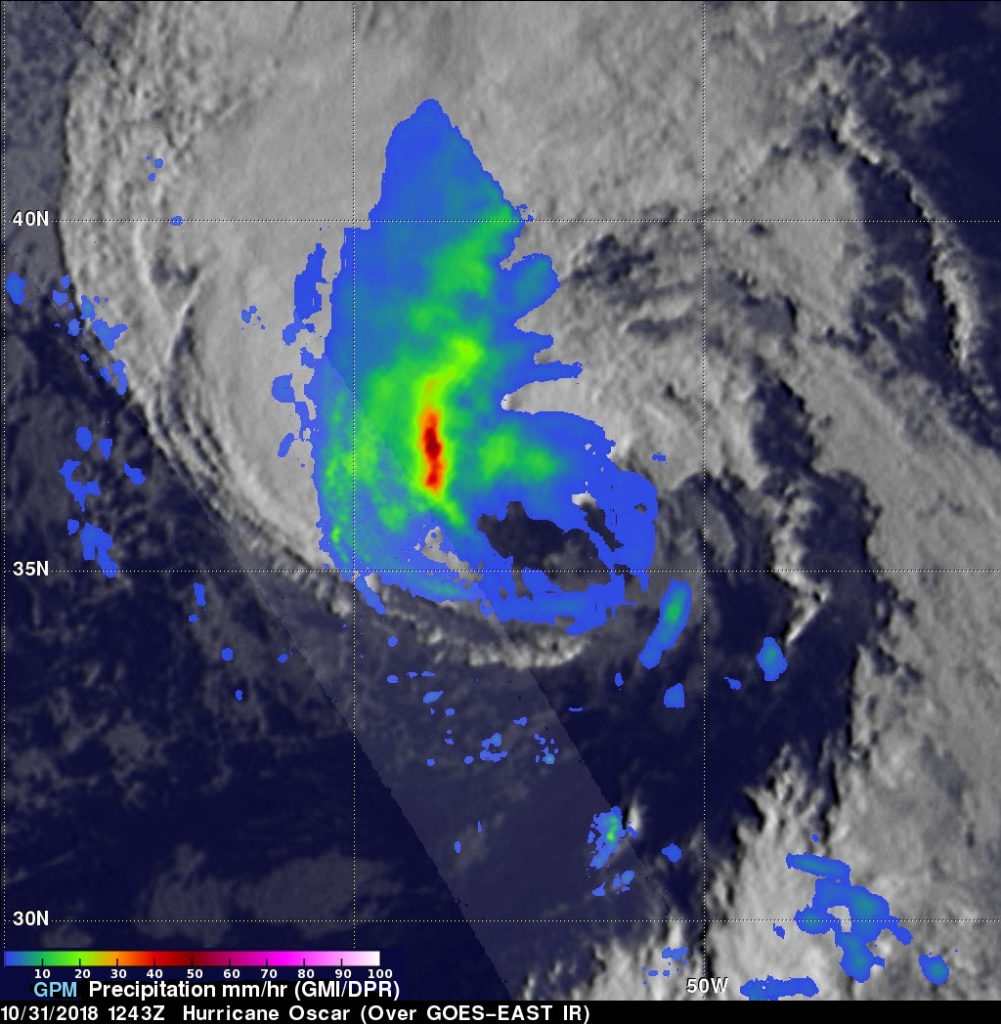 GPM image of Oscar