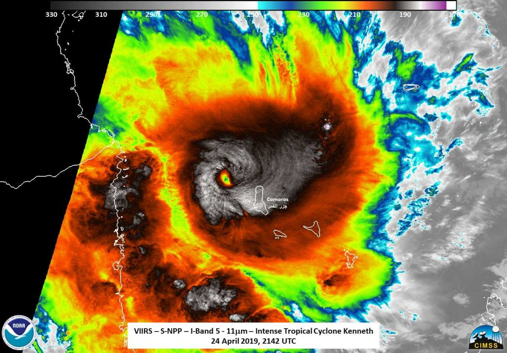Suomi NPP image of Kenneth