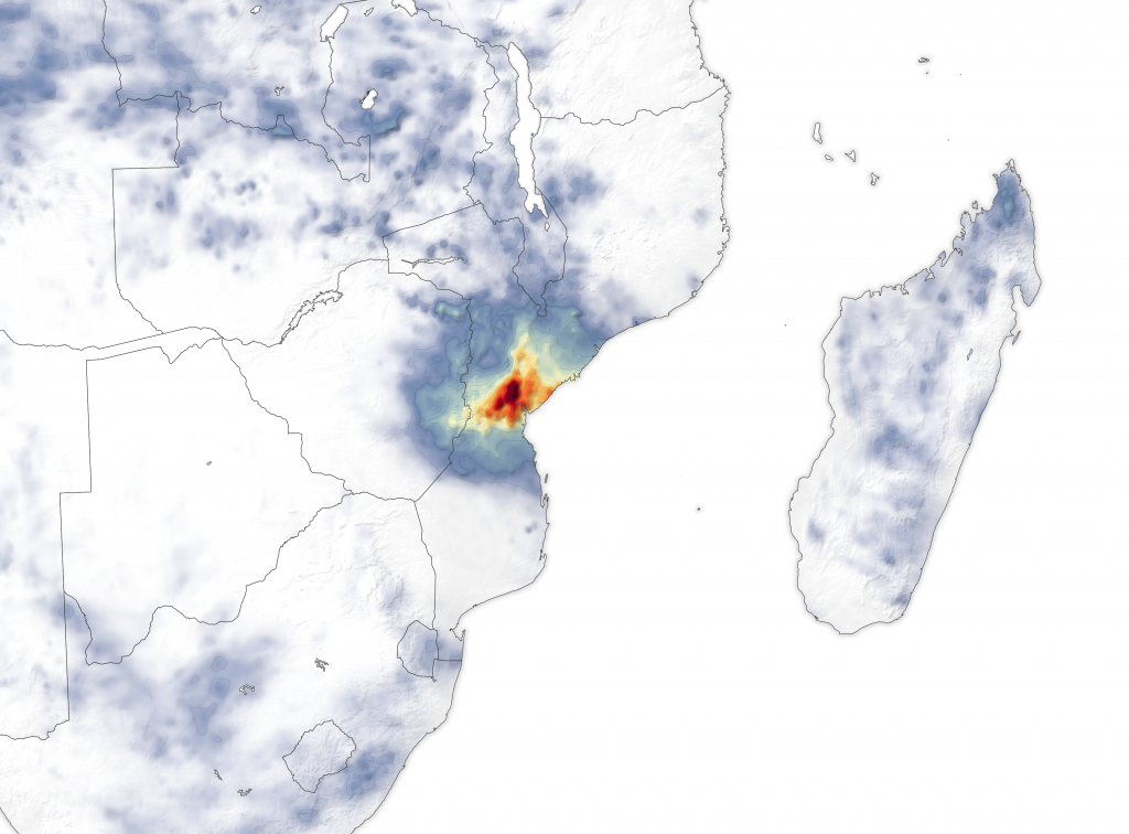 IMERG data on rainfall after Idai
