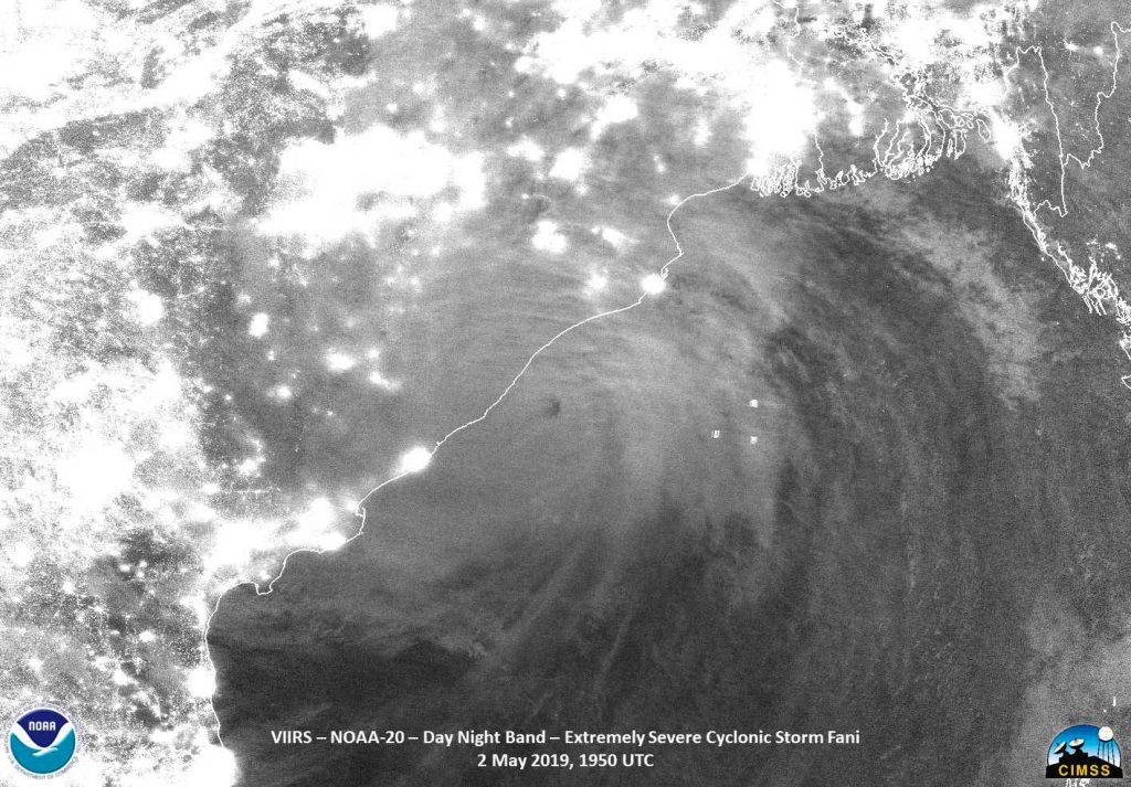NOAA-20 image of Fani