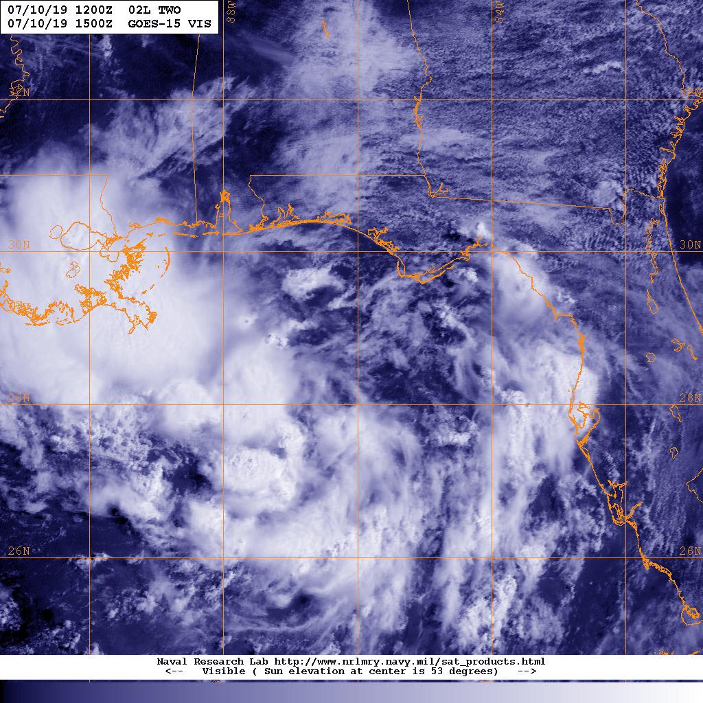 GOES image of TD2