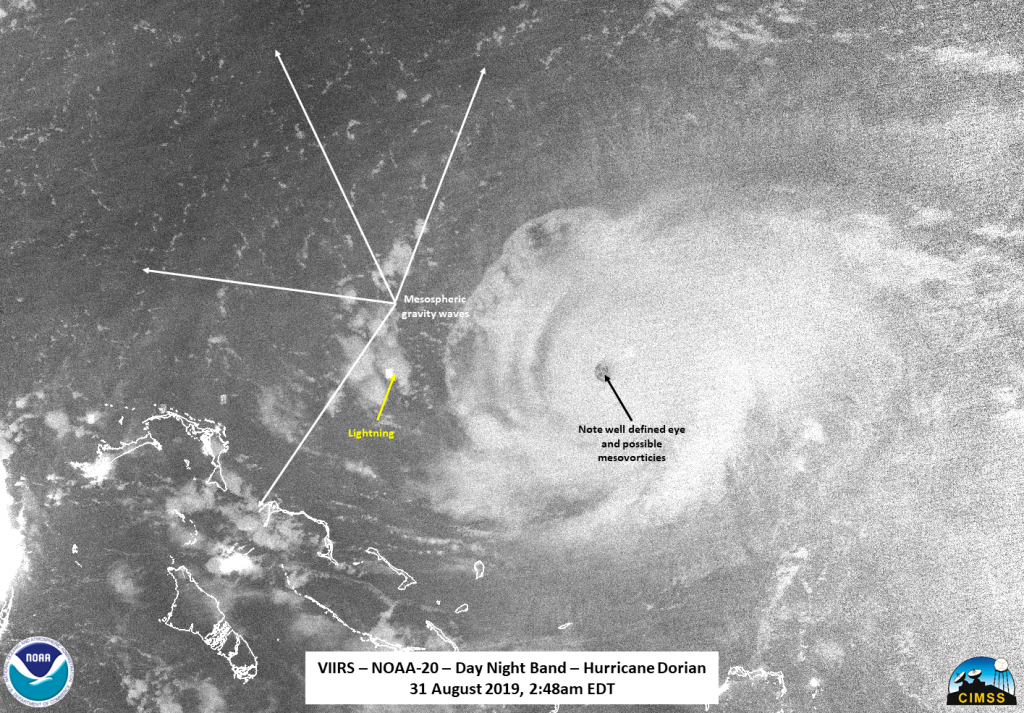NOAA-20 image of Dorian