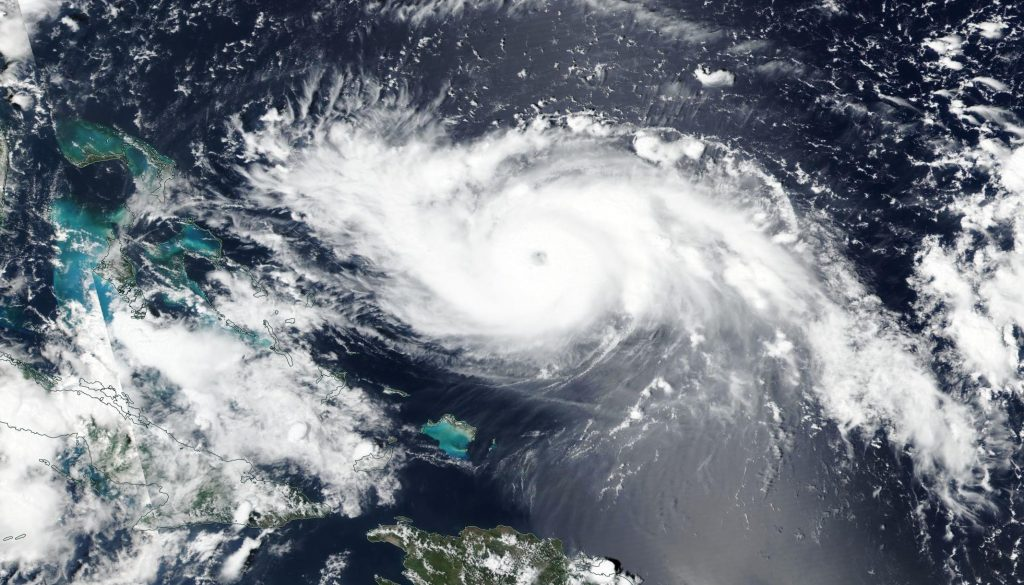 Worldview image of Dorian on Aug. 30, 2019.