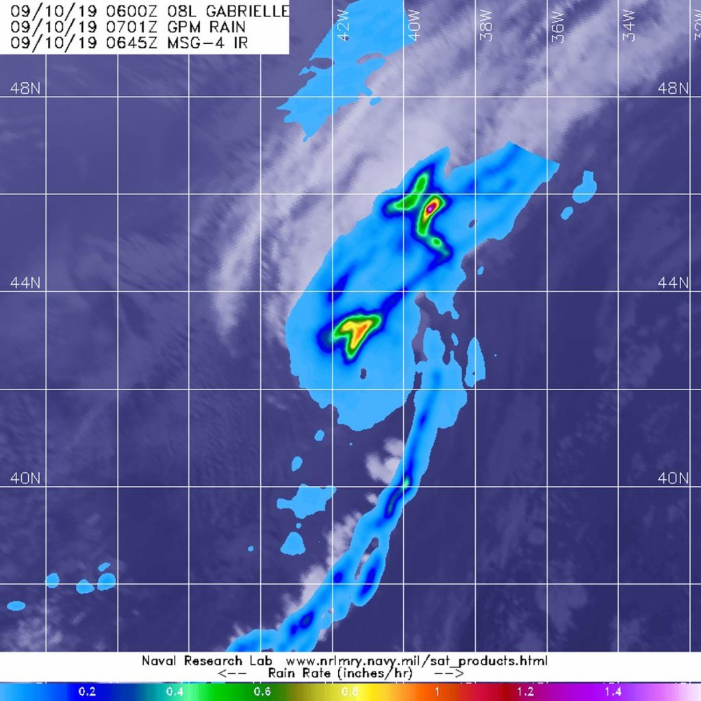 GPM image of Gabrielle
