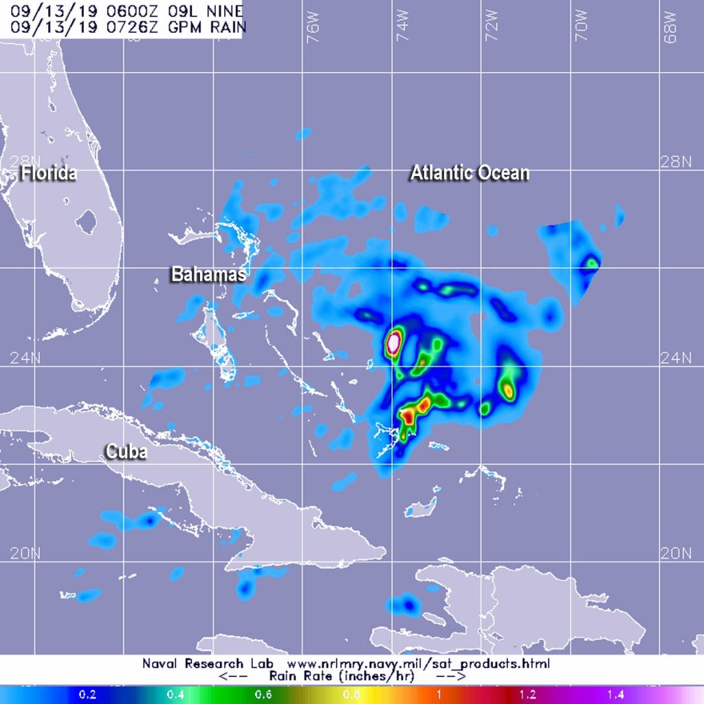 GPM image of Potential Tropical Cyclone 9