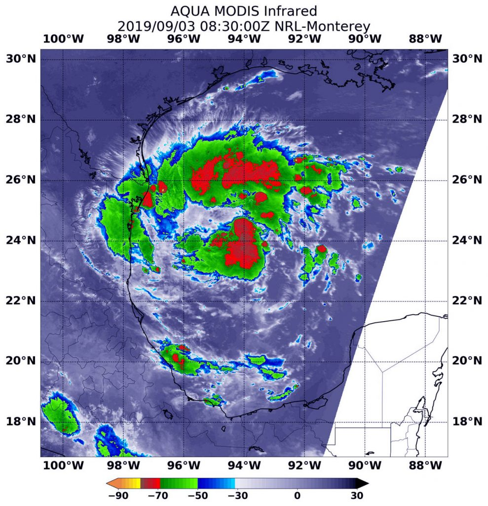 MODIS image of TD7