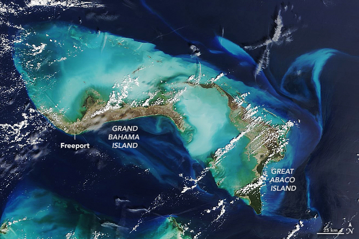 Great Abaco Island and Grand Bahamas on Sep. 7