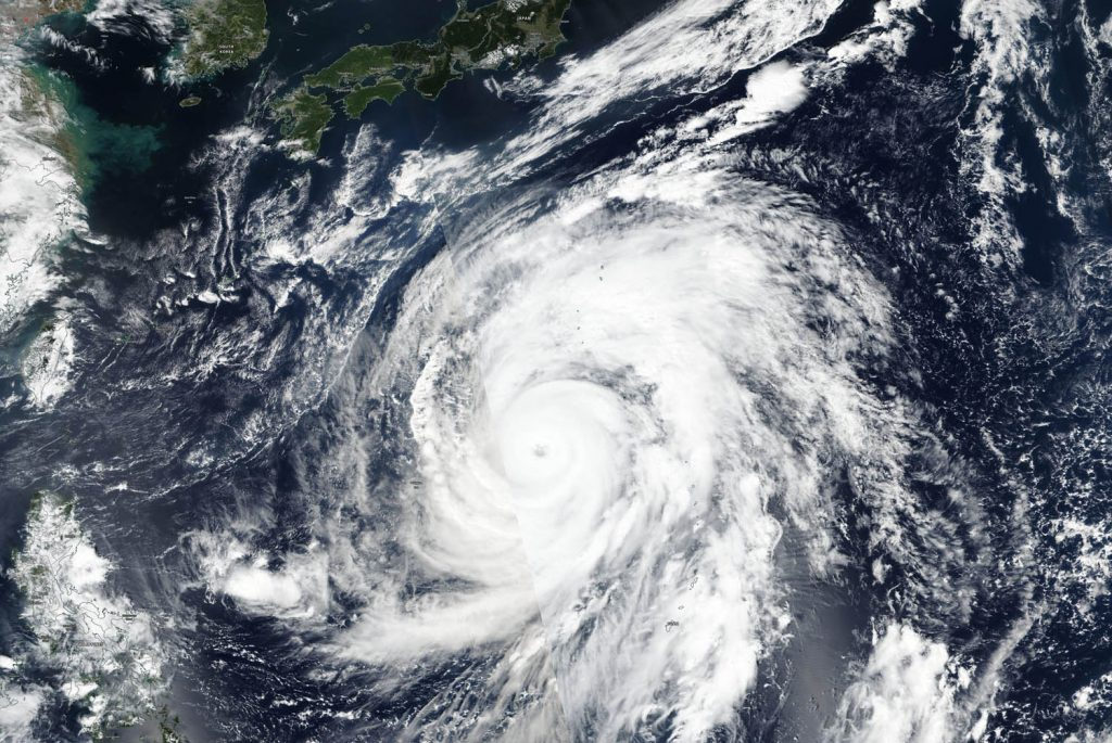 Hagibis as seen by NPP on Oct. 9, 2019