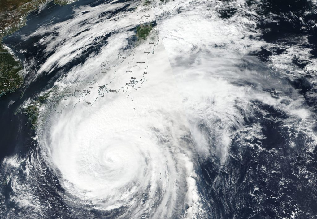 Satellite image of Hagibis