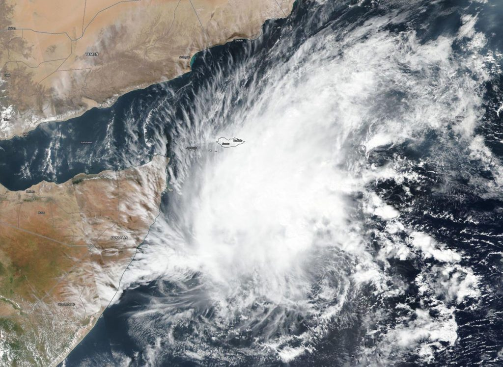 Suomi NPP image of Tropical Cyclone 06A