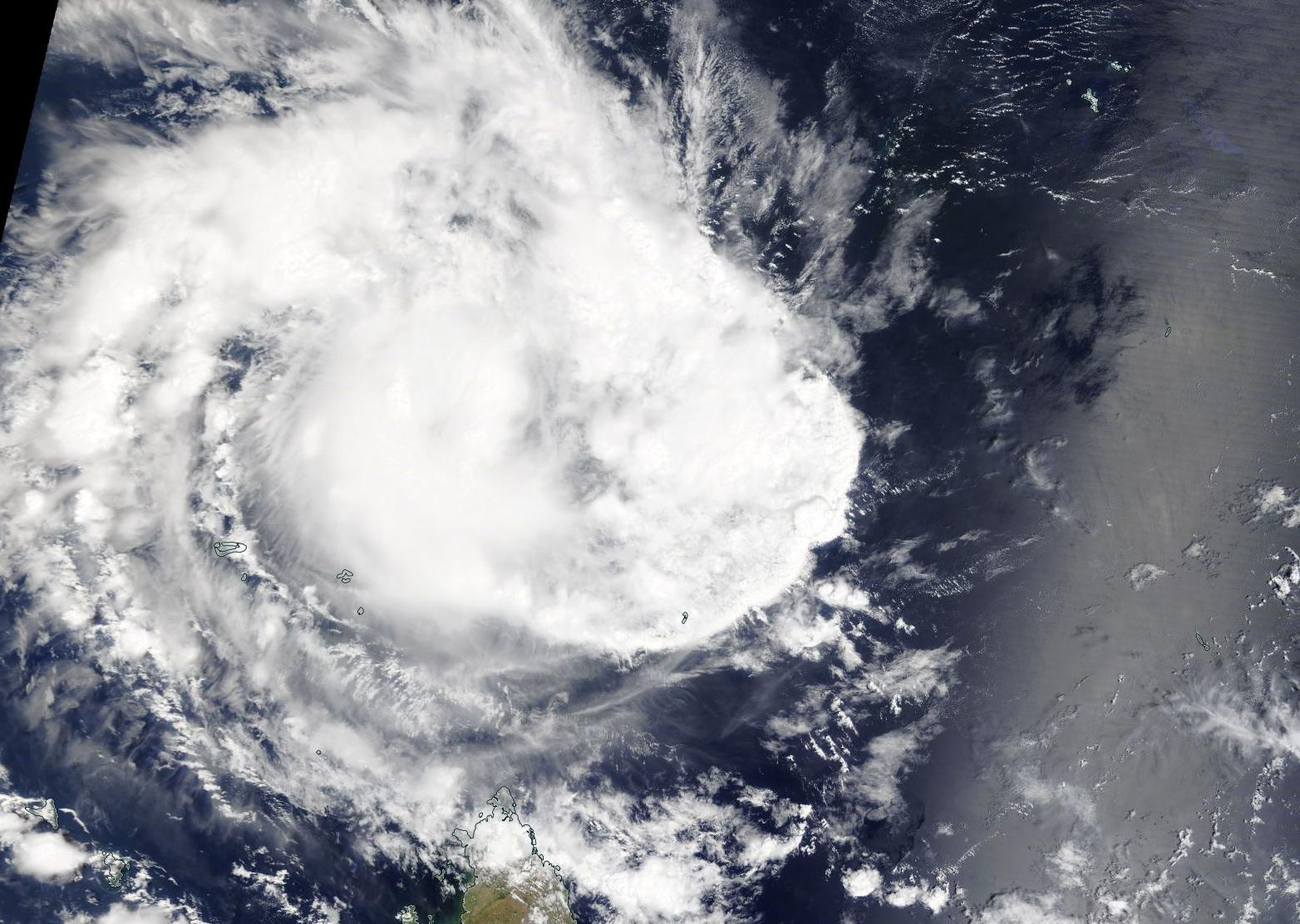 satellite image of cyclone