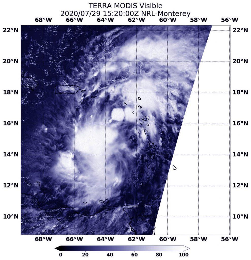 Terra image of PTC 9