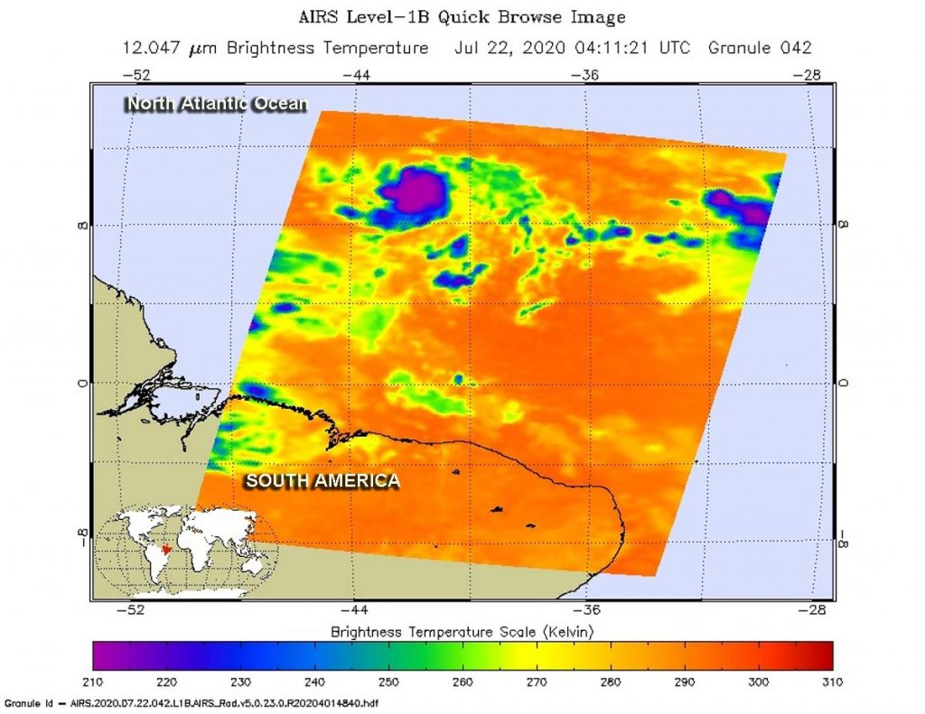 AIRS image of Gonzalo