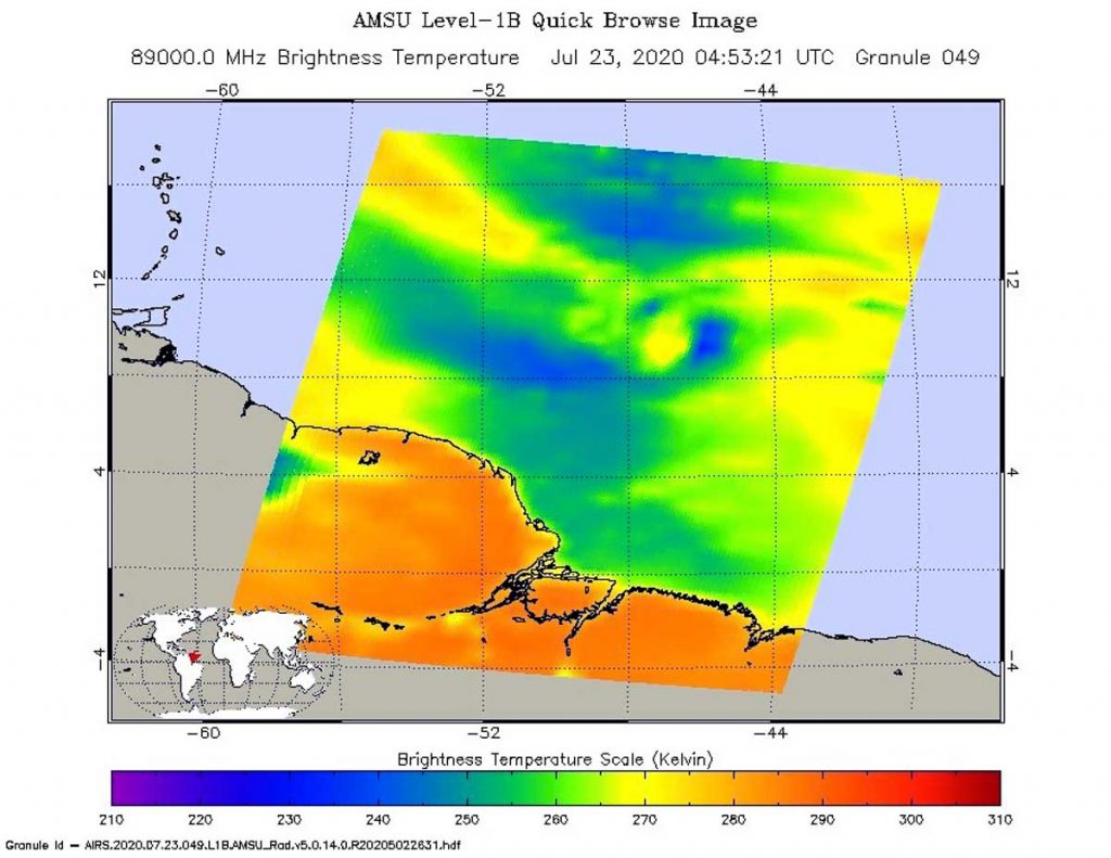AIRS Microwave image of Gonzalo