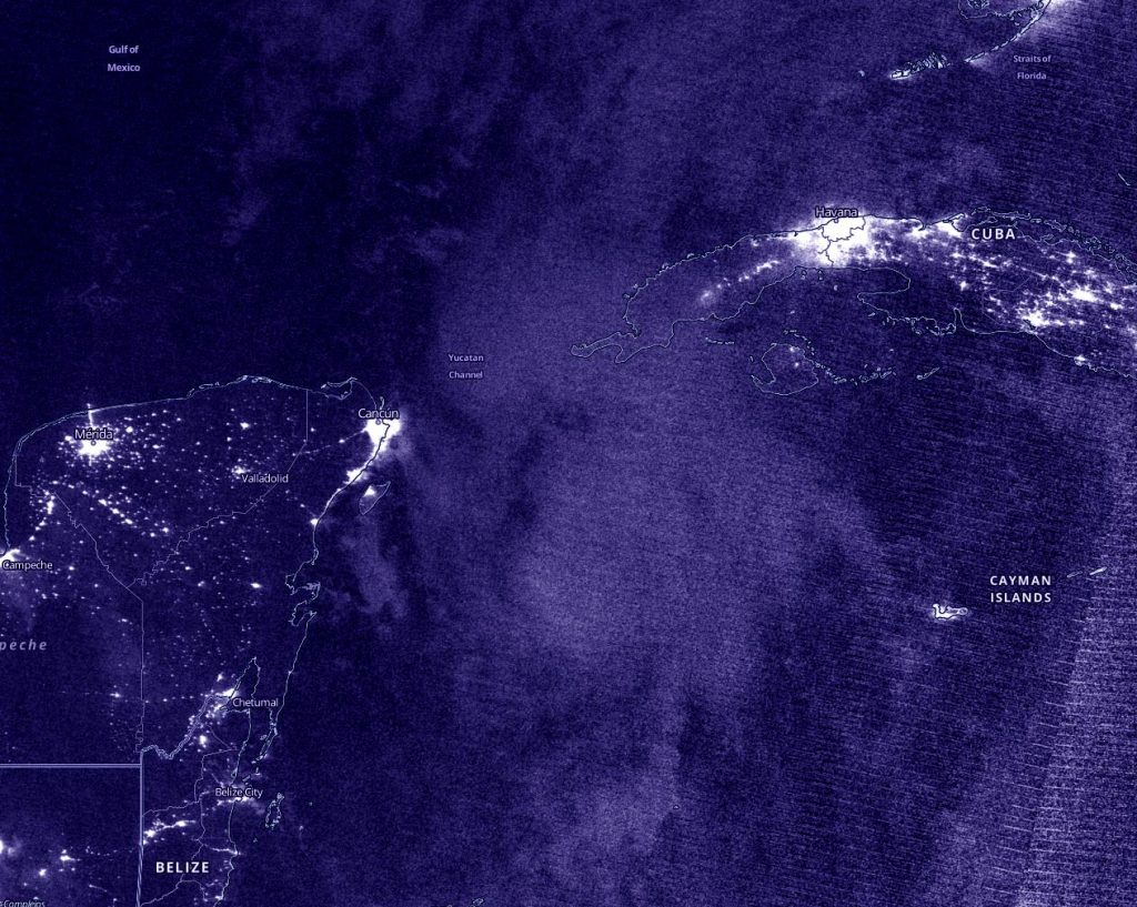 Suomi NPP nighttime image of Marco