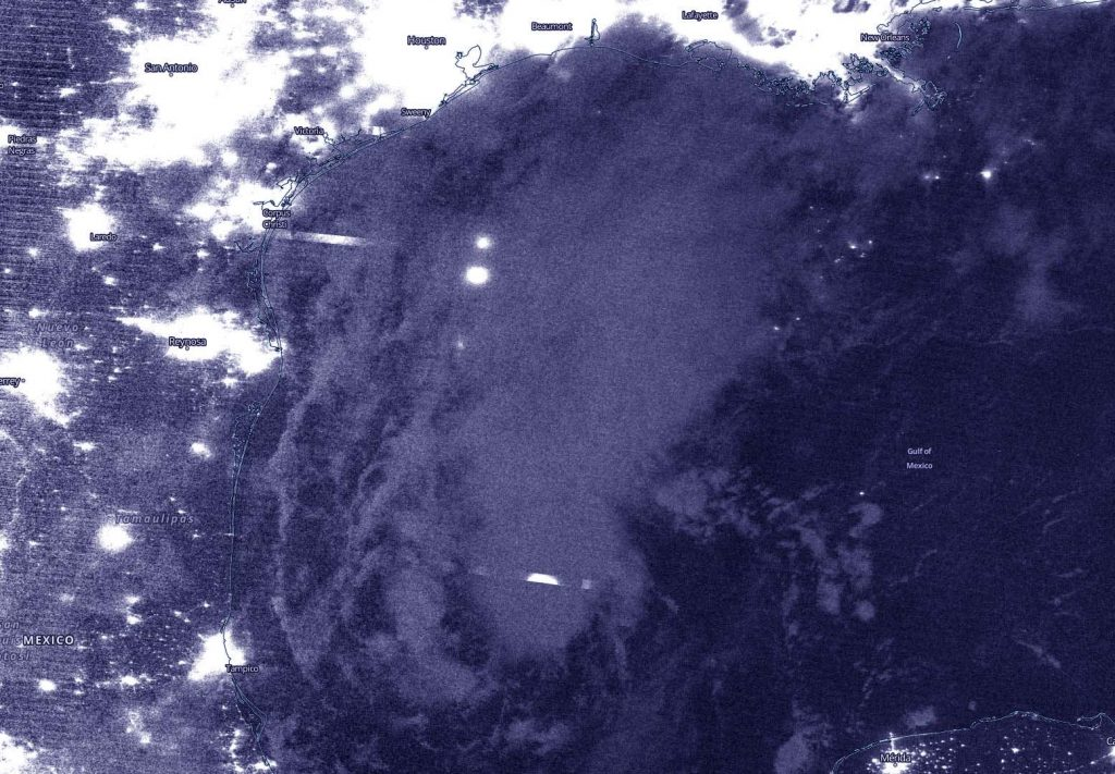 Suomi NPP Image of TD22 in the Gulf