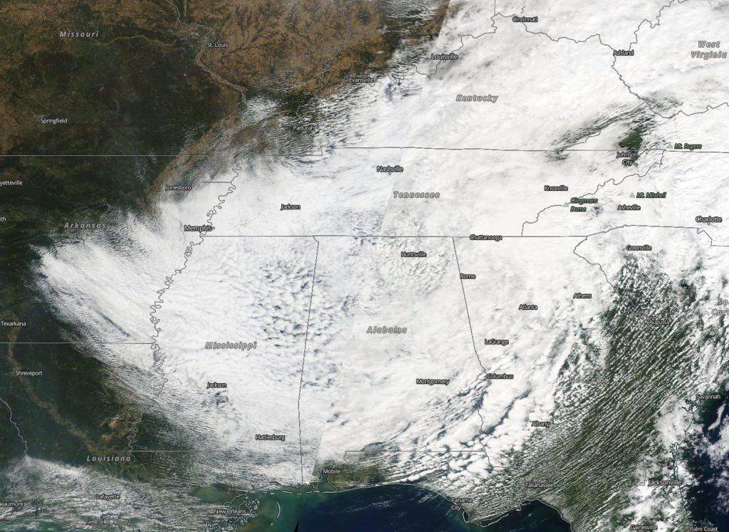 Terra image of Delta