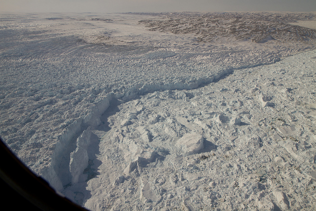 Jakobshavn Glacier calving front