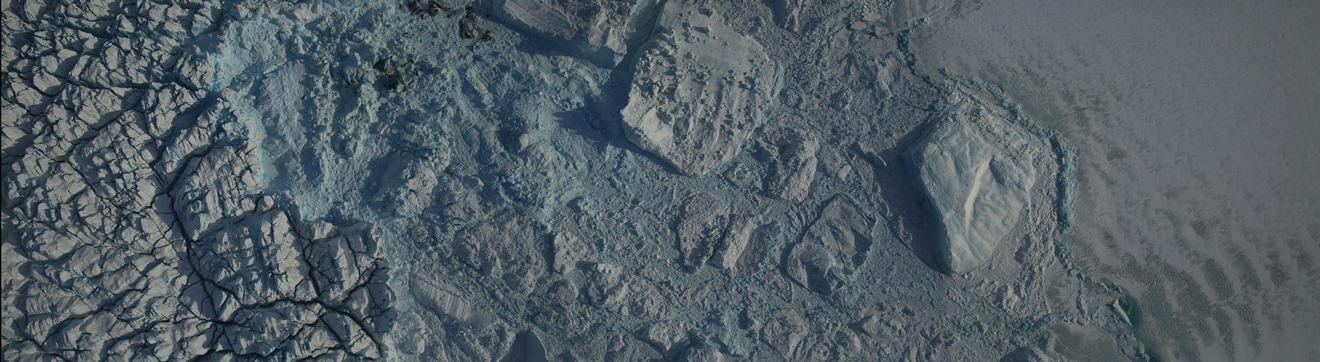 DMS mosaic of glacier calving front